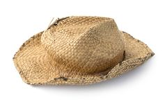 Straw hat old isolated Royalty Free Stock Photo