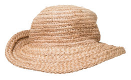 Straw Hat over white Stock Photos
