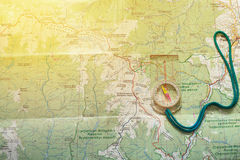Kompass on the map Stock Photography