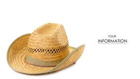 Straw Hat Pattern imagem de stock