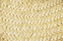 Straw hat plait background Royalty Free Stock Images