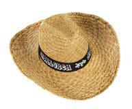 Straw hat that says Mallorca Stock Photos