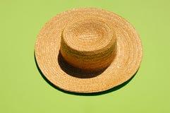 Straw hat, studio shot Stock Images