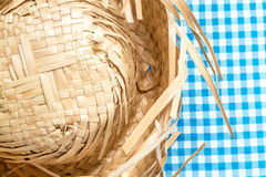 Straw Hat on the table (Festa Junina Theme) Stock Images