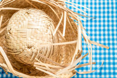 Straw Hat on the table (Festa Junina Theme) Stock Image