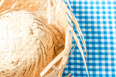 Straw Hat on the table (Festa Junina Theme) Stock Photography