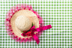 Straw Hat on the table (Festa Junina Theme).  royalty free stock images