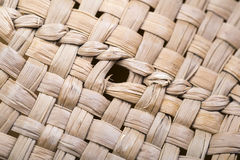 Straw hat texture close-up. Macro photography. Lines of straw and lines are visible royalty free stock image