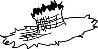 Straw hat vector illustration. Vector illustration of a straw hat Stock Photo