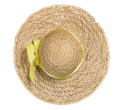 Straw hat on white Stock Photos