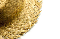 Straw hat  on a white background. Part of straw hat  on a white background Stock Image