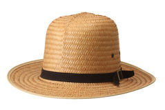 Straw hat on white background. Stock Images