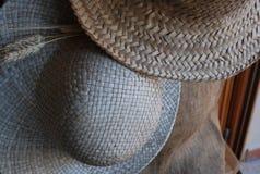 Straw Hats Immagini Stock Libere da Diritti