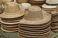 Straw Hats Foto de Stock