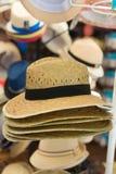 Straw Hats Photographie stock libre de droits