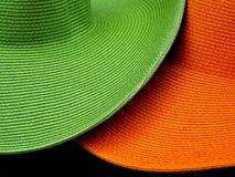 Straw Hats Fotografía de archivo libre de regalías