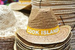 Straw hats from Cook Islands. Pacific island travel vacation holiday concept Stock Photography