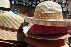 Straw hats Stock Photos