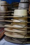 Straw hats Stock Images