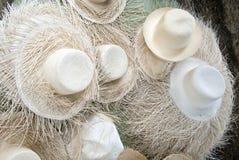 Straw Hats non finito fotografie stock libere da diritti