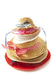 Straw hats on a pile Royalty Free Stock Photo