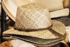 Straw hats. Stock Images