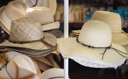 Straw hats. Stock Photos