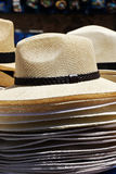 Straw hats, stacked Royalty Free Stock Photography