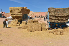Straw hay bales, Morocco Royalty Free Stock Photos