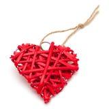 Straw heart Stock Photography