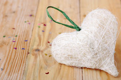 Straw heart Royalty Free Stock Image