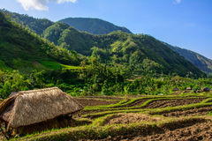 Free Straw House In Mountain Village, Amed, Bali Indonesia Stock Photos - 86449203