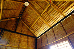 Straw house roof Stock Photography