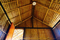 Straw house roof Royalty Free Stock Photography