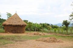 Straw house , village hut Royalty Free Stock Image