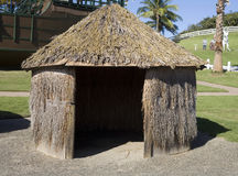 Straw hut at Arecibo Lighthouse Royalty Free Stock Photos