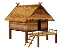 Straw hut. Design royalty free illustration