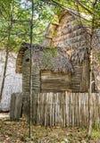 Straw Hut för semestrar Arkivbild