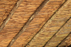 Straw Hut's Roof Pattern Stock Photo