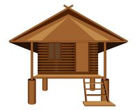Straw hut. Vector design stock illustration