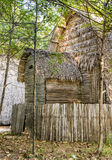 Straw Hut for Vacations. Side view of a straw hut for built for exotic vacations Stock Photography