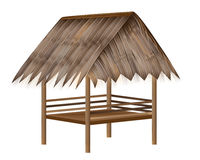 Straw hut. The straw hut vector design Royalty Free Stock Photo