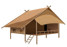 Straw hut. The straw hut vector design Stock Images