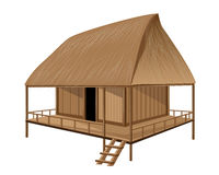 Straw hut. The straw hut vector design Stock Photography
