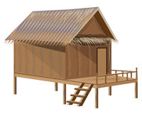 Straw hut. The straw hut vector design Stock Photos