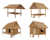 Straw hut. The straw hut vector design Royalty Free Stock Images