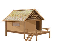 Straw hut. The straw hut vector design Stock Image