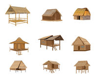 Straw hut. The straw hut vector design Royalty Free Stock Photos