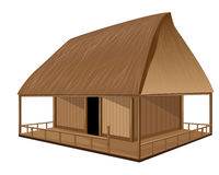 Straw hut. The straw hut vector design Stock Illustration
