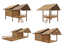 Straw hut. The straw hut vector design Stock Photo